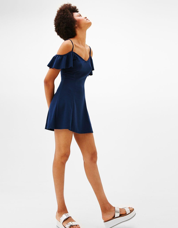 Vestido Corto Línea A Mangas Cosas Para Ponerme