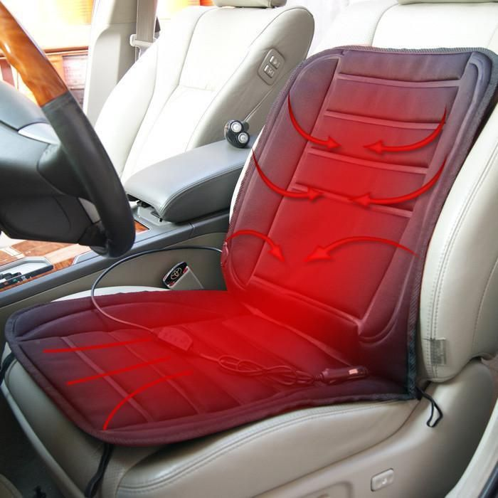 Car Heated Seat For Winter 12V Single Cushion Item Type Covers Supports Height 46 Cm Width 44 Length 55