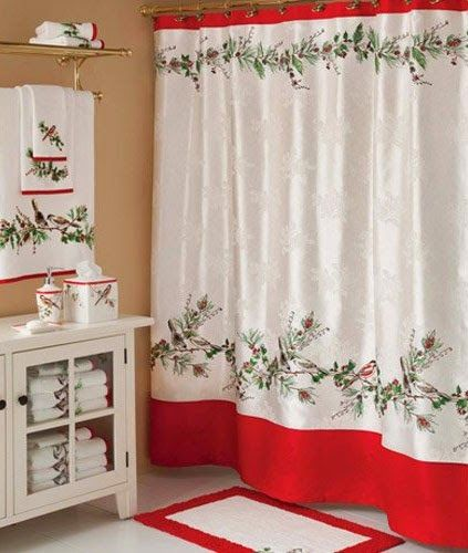 Curtain Ideas Christmas Bathroom Shower Curtains And Matching Ac