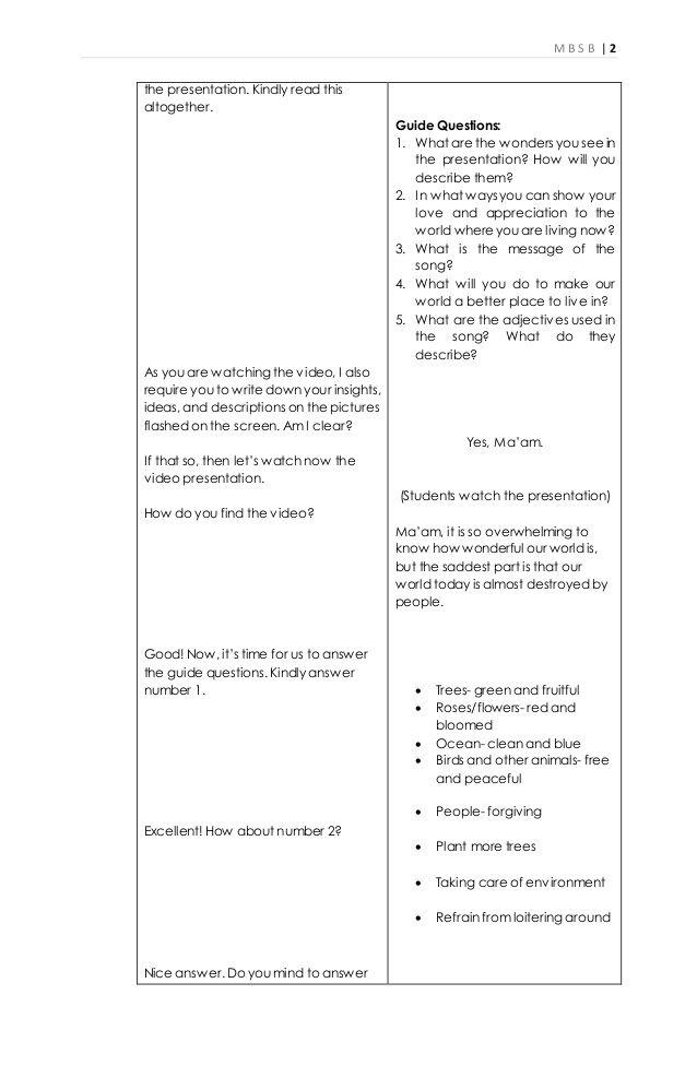 Essay writing lesson plan
