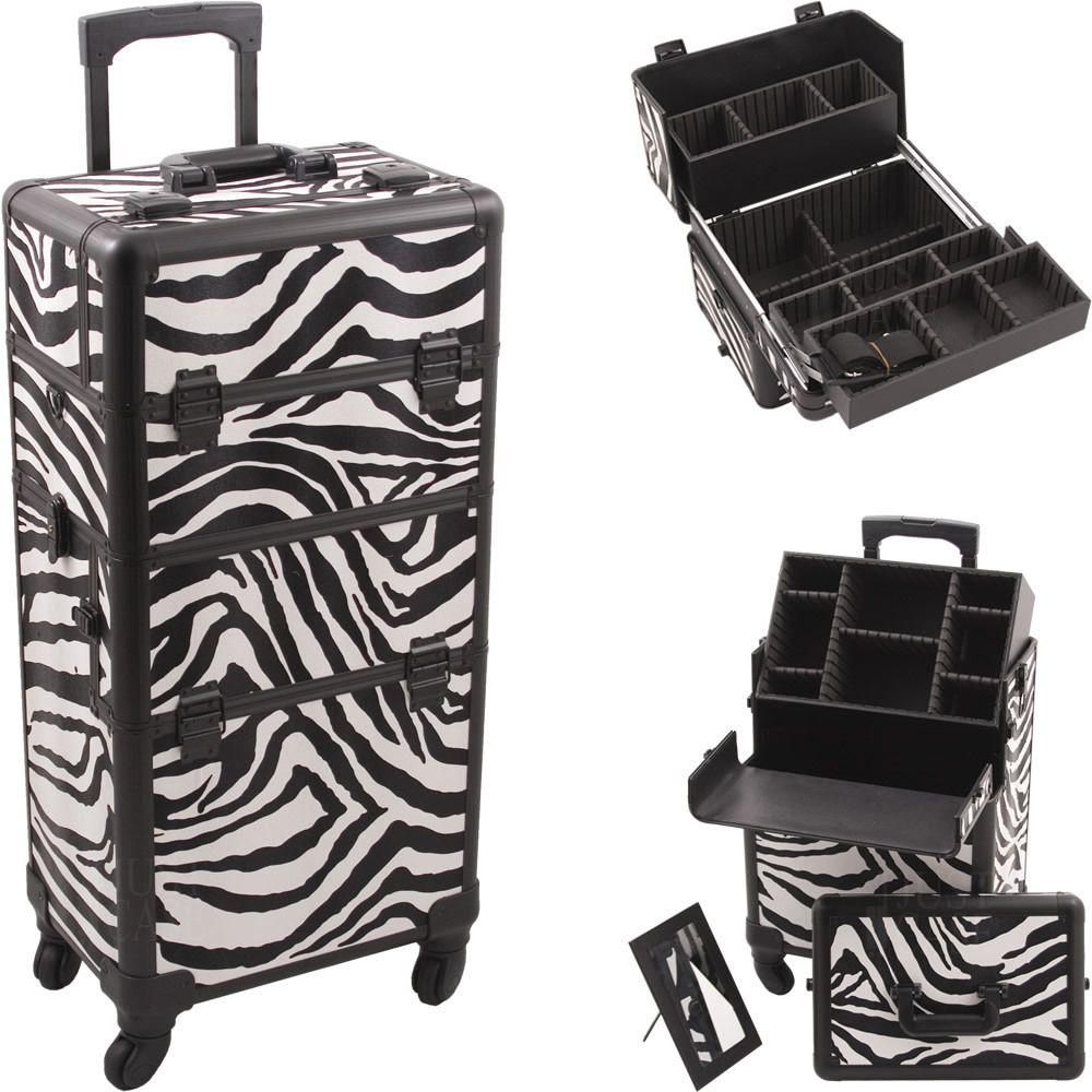 Zebra White Pro 4Wheel Case Hk6501