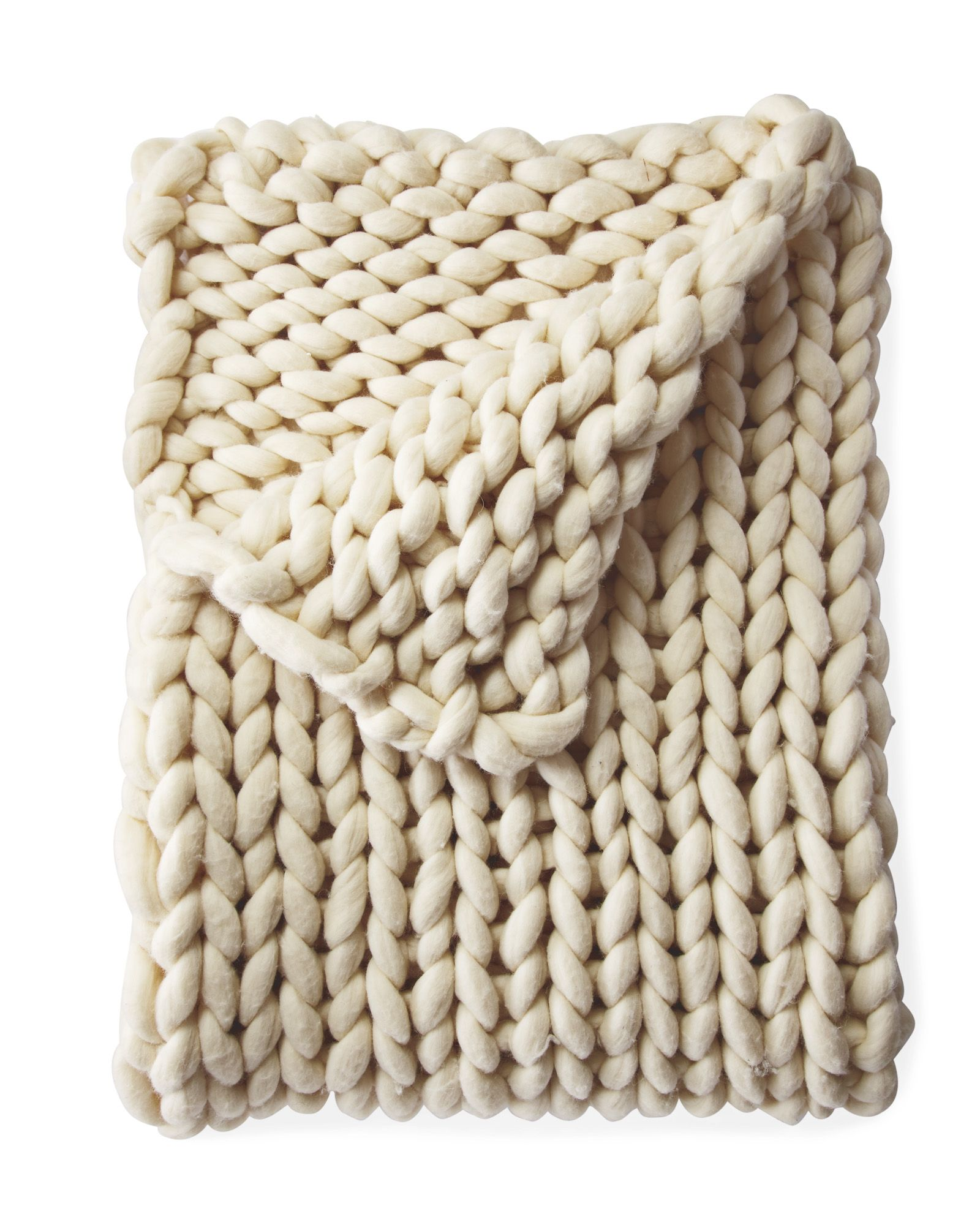 oversized wool knit throw