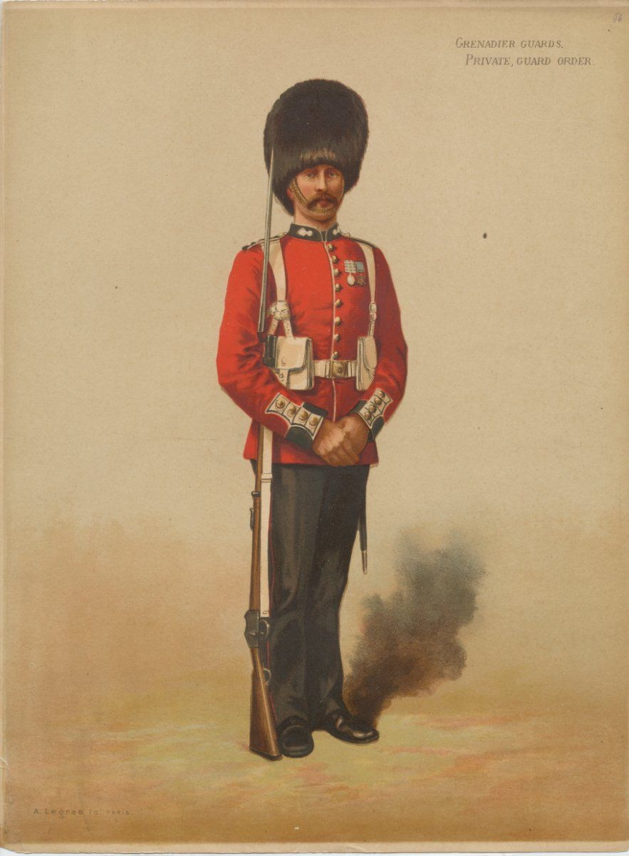 British; Grenadier Guards, Officer, Review Order, c.1875