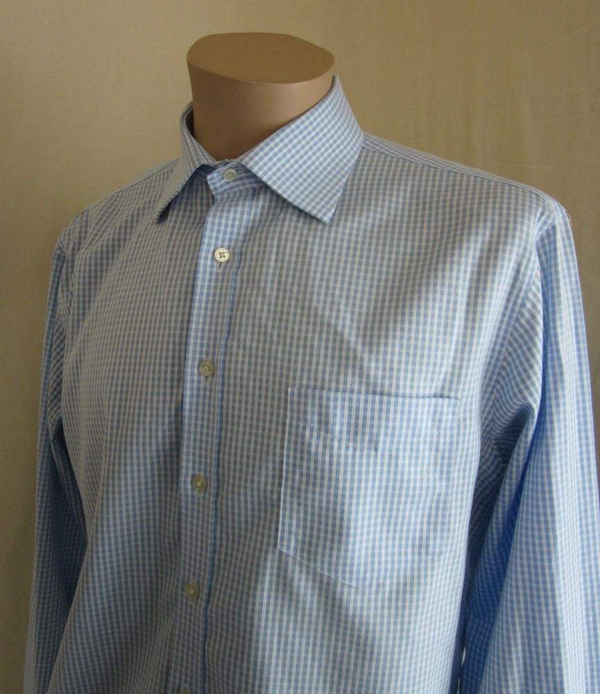 Pink dress shirt blue suit  PINK THOMAS PINK TRAVELLER SLIM FIT BLUE WHITE CHECK DRESS SHIRT
