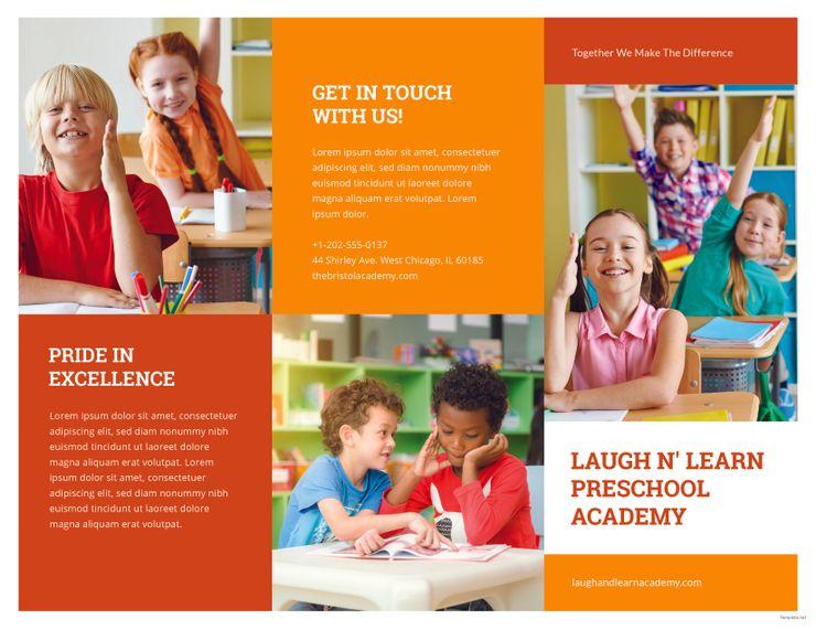 Free Preschool Brochure School Brochure Free Preschool Brochure