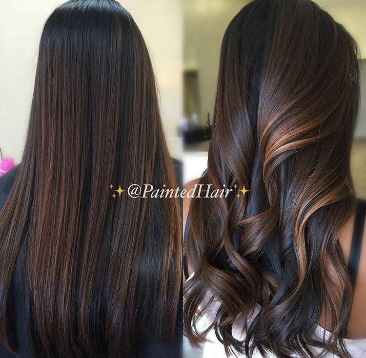 Chocolate Brown With Caramel Highlights Hair Pinterest