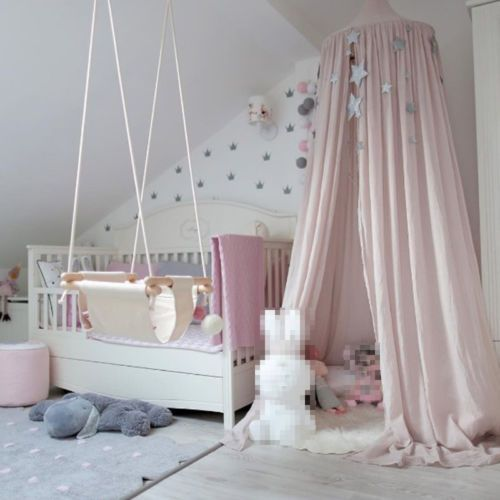 Cotton Cloth Bed Mosquito Mesh Canopy Kids Children Round Dome Bedding Net Pink Kids Bedroom Decor Kids Canopy