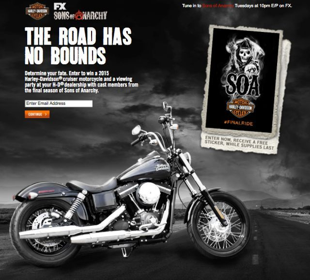 Enter to win a Harley Davidson Cruiser Motorcycle and Sons of ...