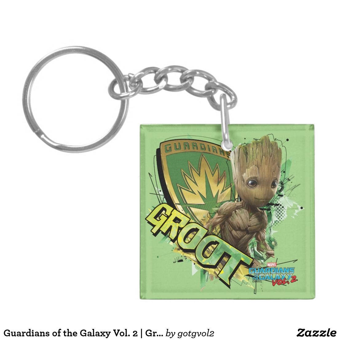 Llaveros Pines Y Pegatinas Coleccionismo Guardians Of The Galaxy 2 Keyring Groot SUPERHERO Birthday Present Gift Idea