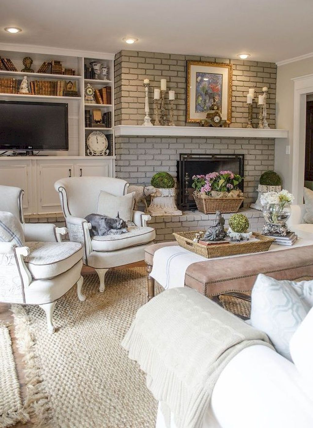 Adorable 30 Fancy French Country Living Room