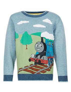 Light Blue Mix Pure Cotton Thomas & Friends™ Jumper (1-7 Years)