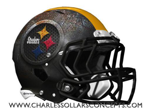 Charles Sollars Concepts @charles elliott elliott Sollars #Steelers #pittsburgh http://www.charlessollarsconcepts.com/nfl-mock-draft-helmet-redesign-round-1/ #NFL #mockdraft