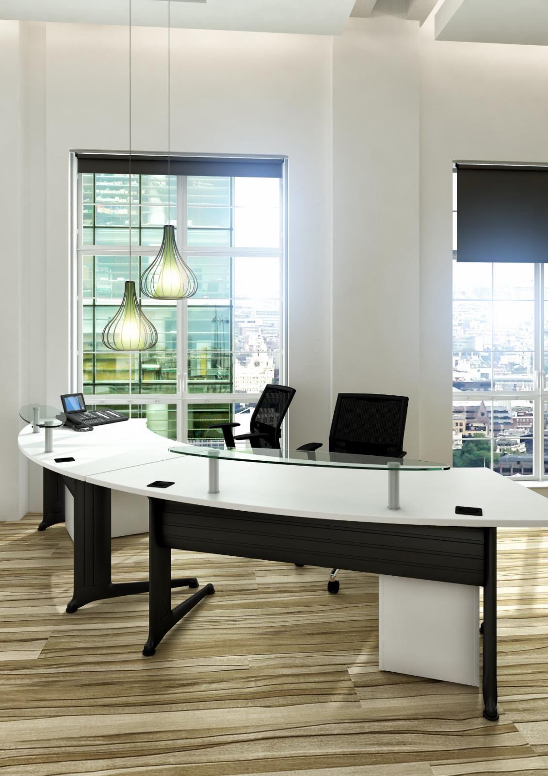 Modern desk Furniture, Home, Glass shelves