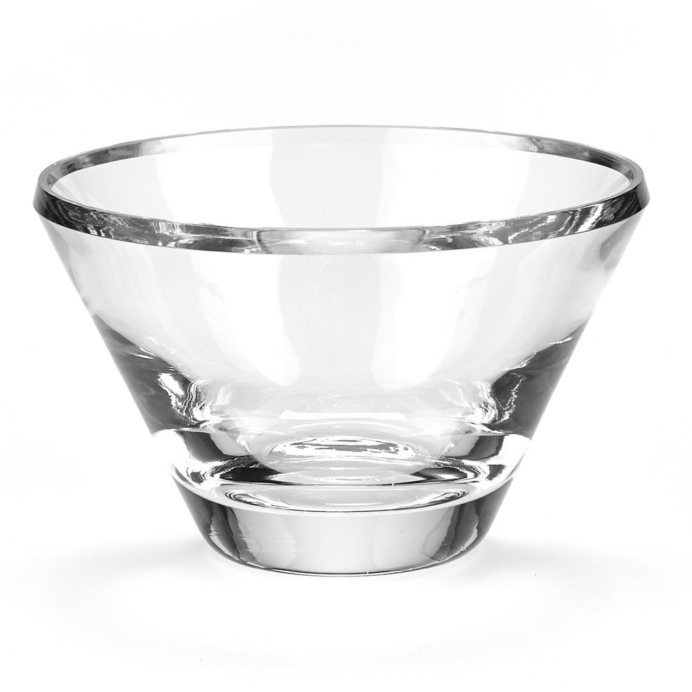 Decorative Clear Glass Bowls.Badash Crystal Beveled Large Trillion Clear European Mouth