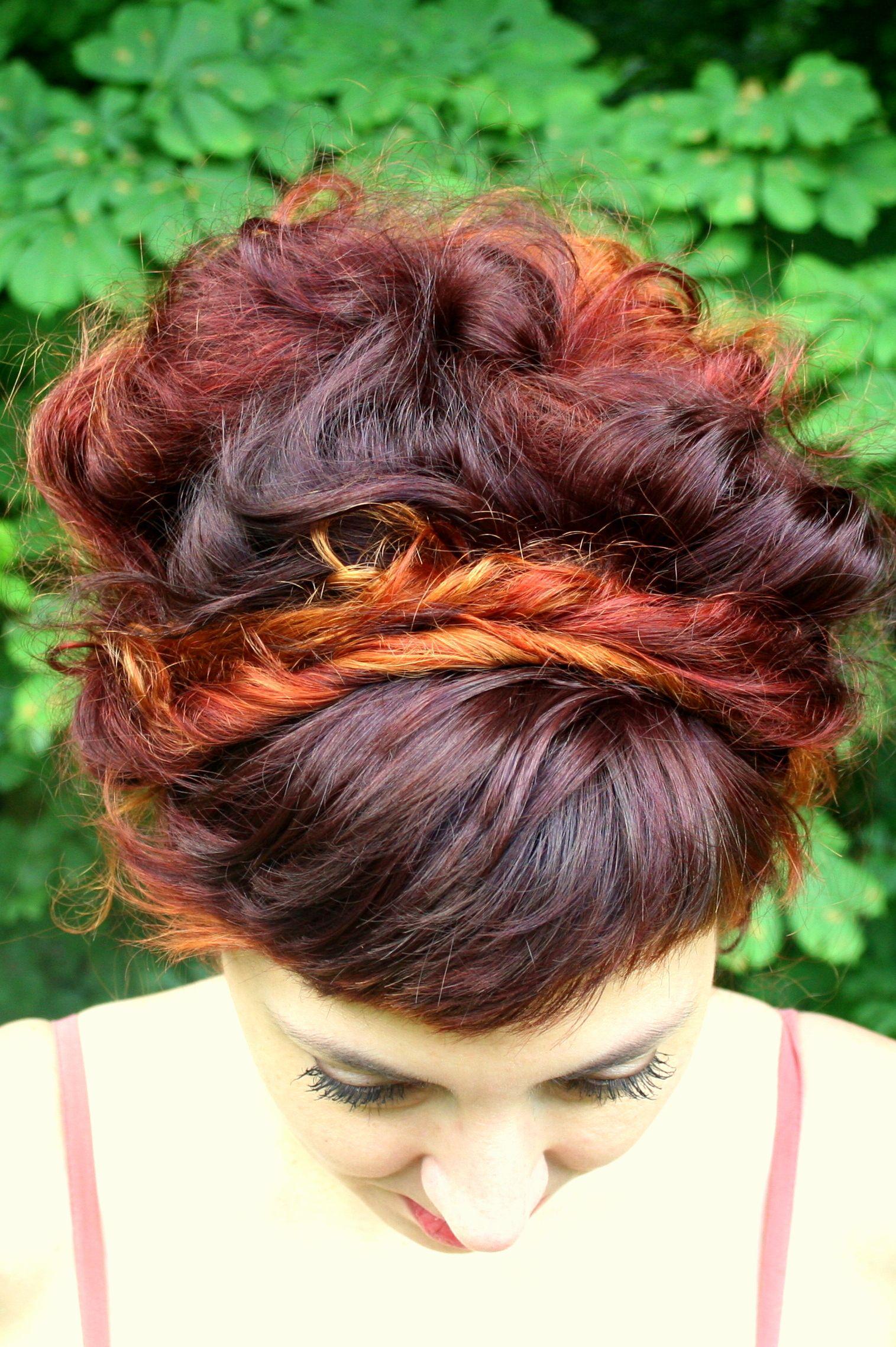 #grenadine #copper #red #ombre #hair #bun