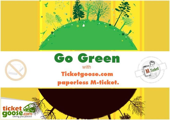 Go green mobile ticket on bus booking
