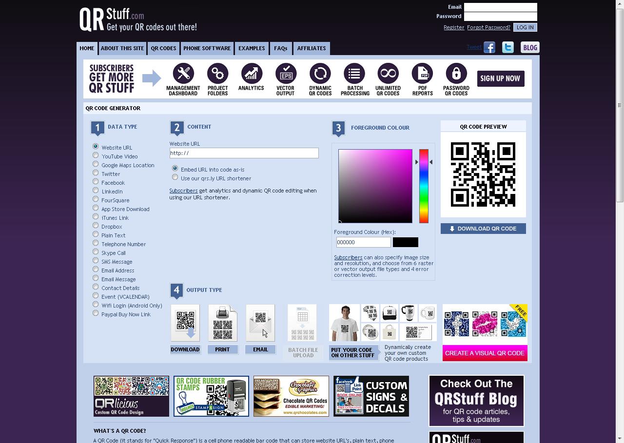 QR Code Generator: QR Stuff Free Online QR Code Creator And