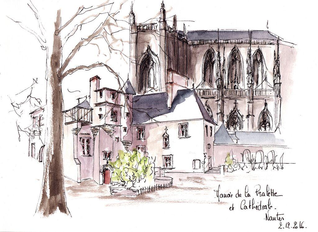 Le Manoir De La Psalette Nantes Urban Sketching Building