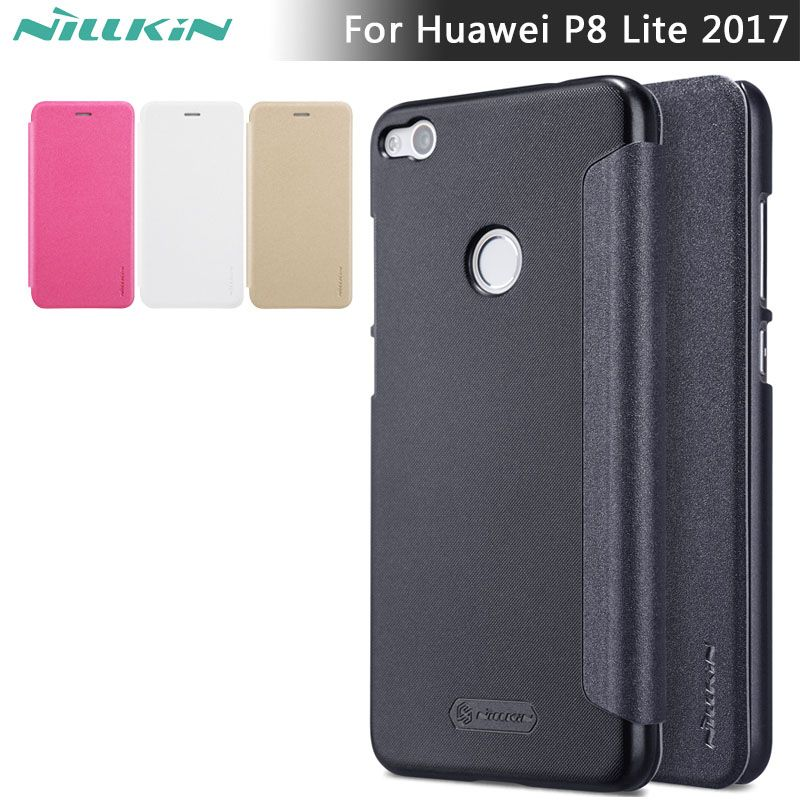 low priced e56f4 0a0f3 Flip Leather Case for Huawei Honor 8 Lite NILLKIN Sparkle flip cover ...