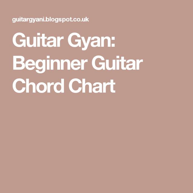 Guitar Gyan: Beginner Guitar Chord Chart | Guitar chords | Pinterest ...