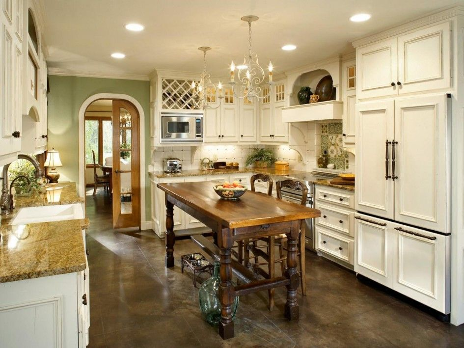 Kitchen, French Country Design Of Interior Housing Ideas: Various Design of French Country Kitchen