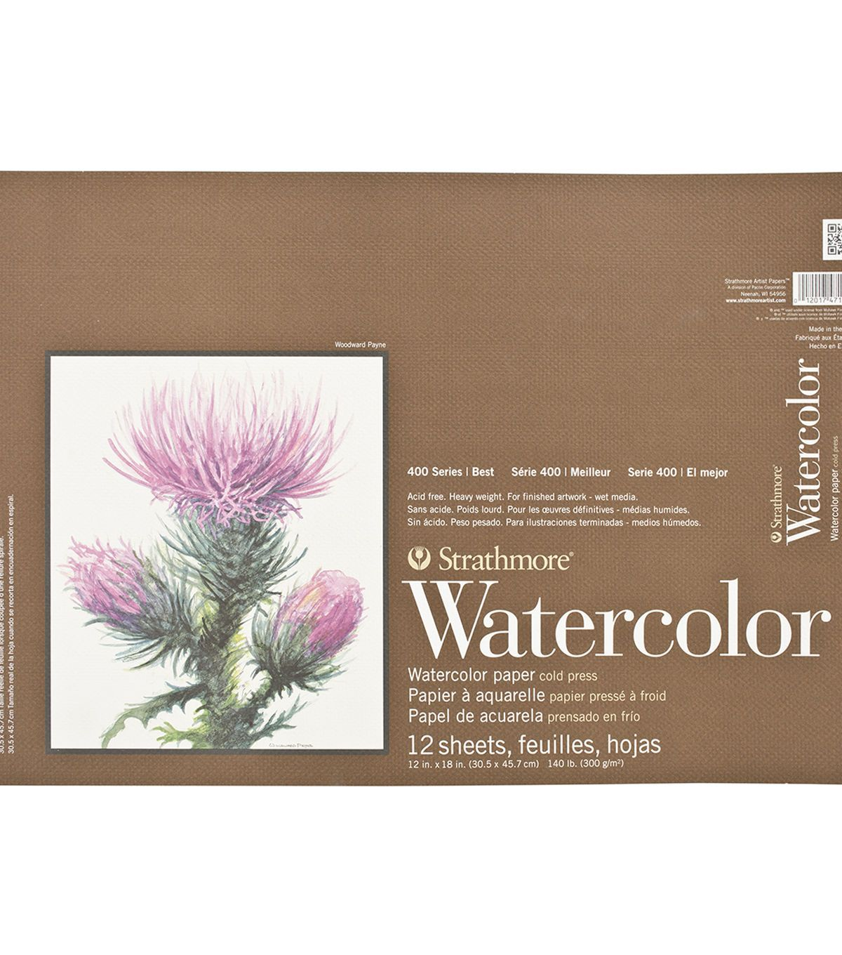 Strathmore Watercolor Paper Pad 12 X18 140lb Cold Press 12 Sheets