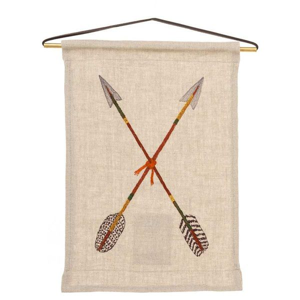 Coral & Tusk - Embroidered Art Flag - Crossed Arrows Flag