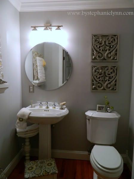 Bathroom Decorating Ideas For Less : My powder room decorating makeover for less than