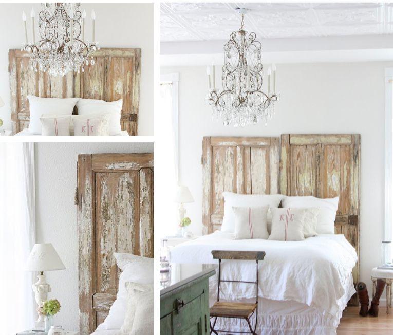 vecchie porte in stile shabby chic testiera del letto  Oh So Shabby ...