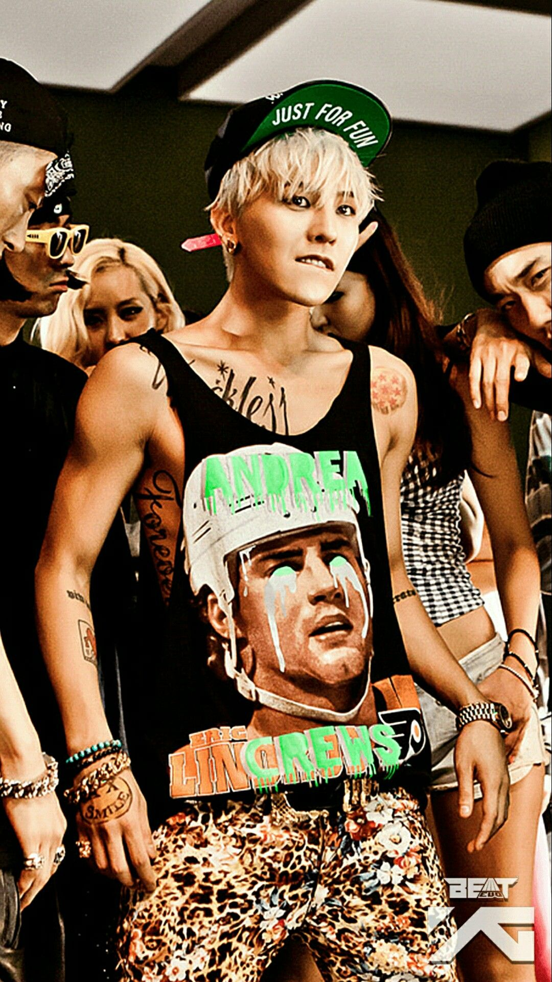 Gdragon Is Wearing A Vest