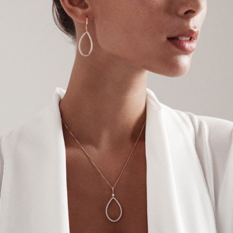 Cascata Rose Earrings - Silver Earrings - Silver by Mail