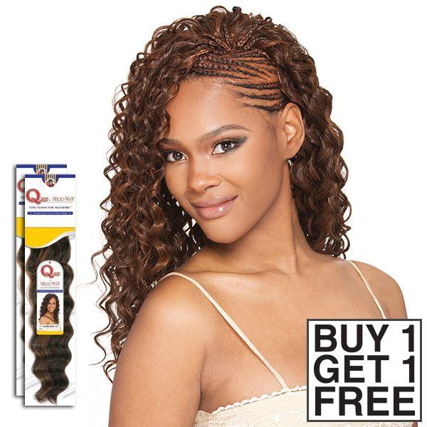 Milky Way Que Human Hair Blend Braid Appeal Bulk Buy 1 Get 1