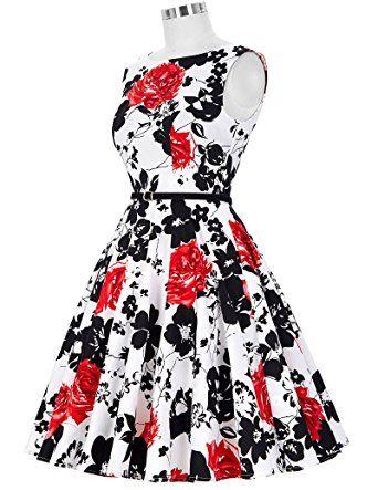 5a51c318d0822a GRACE KARIN® 50s Retro Vintage Rockabilly Kleid Partykleider  Cocktailkleider GD6086: Amazon.de: Bekleidung