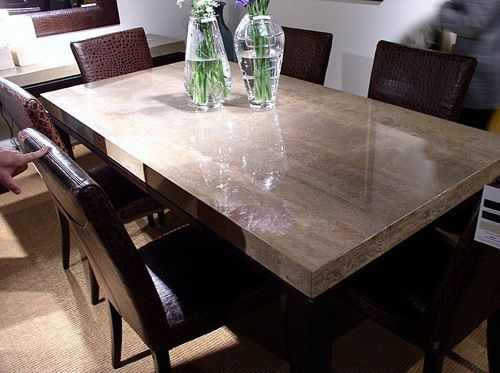 Solid Stone Dining Table
