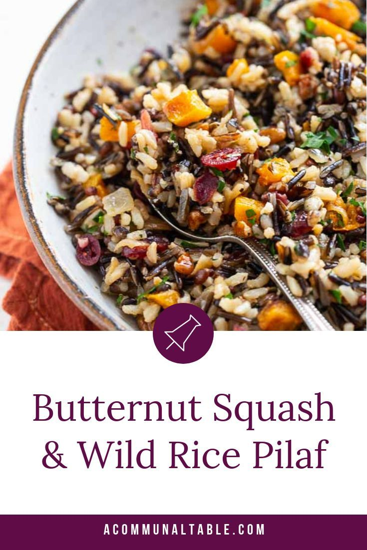 This  easy Roasted Butternut Squash and Wild rice Pilaf recipe is a deliciously healthy side dish for chicken, pork and turkey. #sidedishes #thanksgiving #butternutsquash #wildrice #sidedishrecipes #chickensidedishes