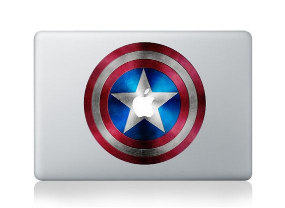 Decal for Captail America - Decal laptop Stickers macbook decal macbook pro decal macbook air decal ipad stickeripad mini stickers on Etsy, $8.50