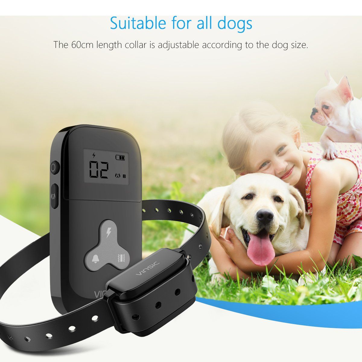Vinsic Dog Training Collar With Remote Shock Collar For Dogs 300