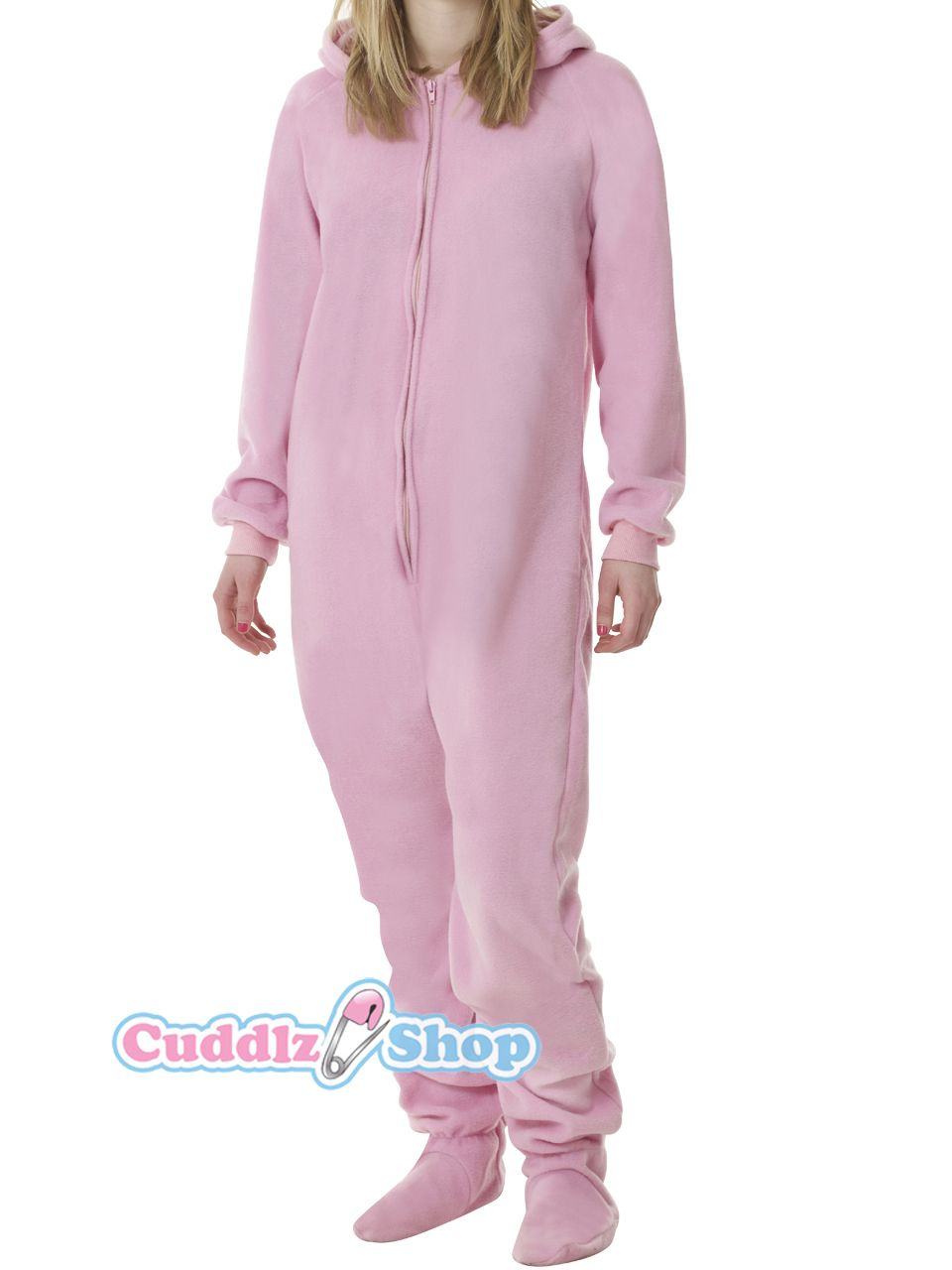 2cd0e1fe5 Pink onesie for adults with feet adult baby footed sleeper abdl ...