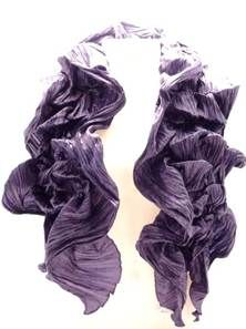 Foulard Heladio -Violet - Frexo - Marque  Palme. Foulard femme Violet  élastiqué - 100 % polyester. 8dbe1571599