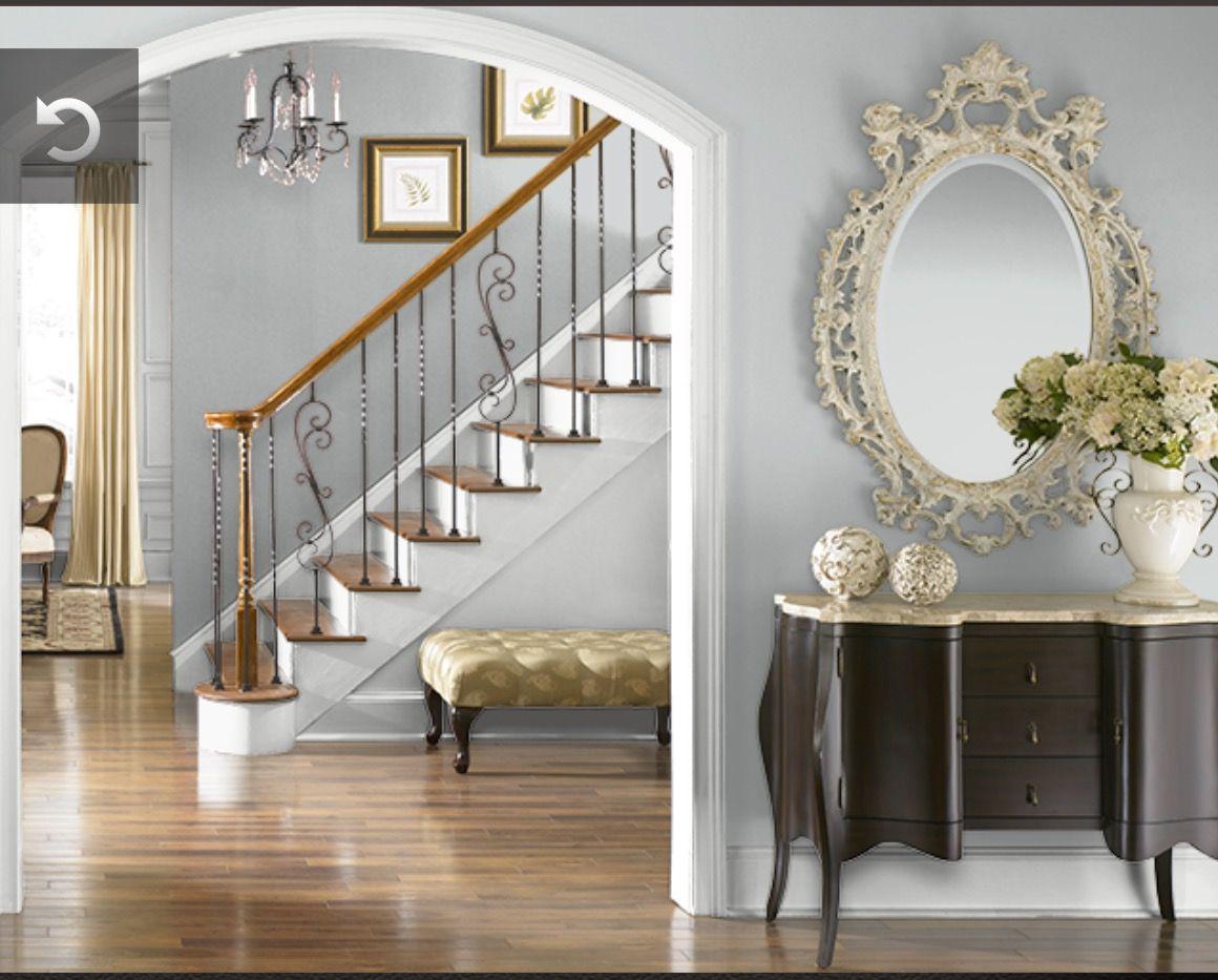 Halls Behr Evaporation N450 1 Pale Bluish Gray Room Colors Behr Colors Behr Paint Colors