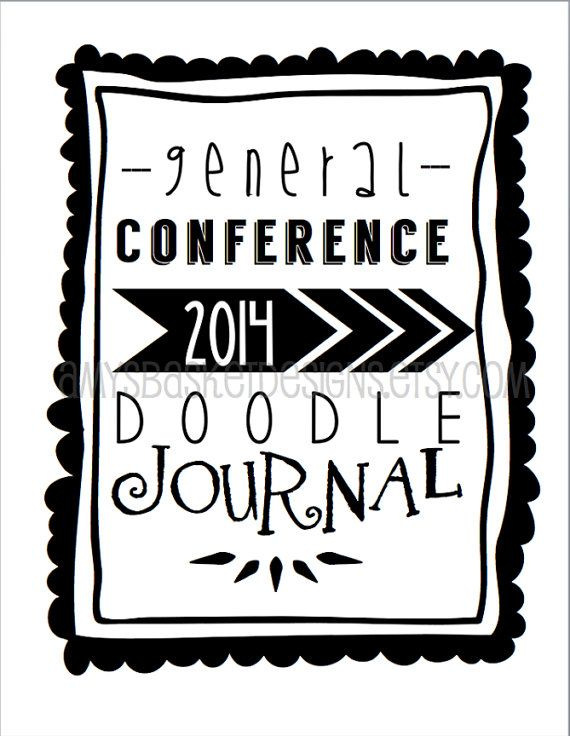 2014 LDS General Conference Doodle Journal by