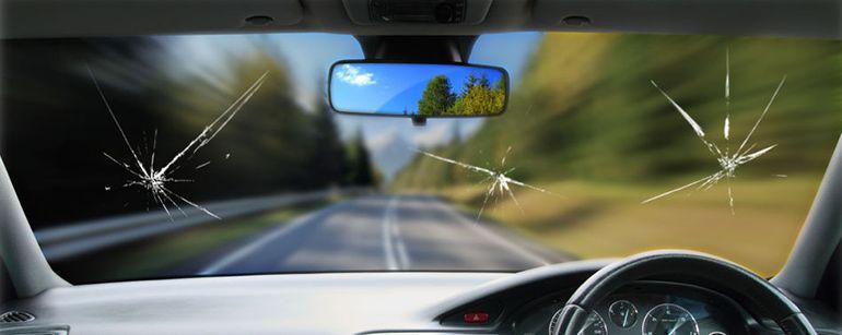 cermin kereta pecah