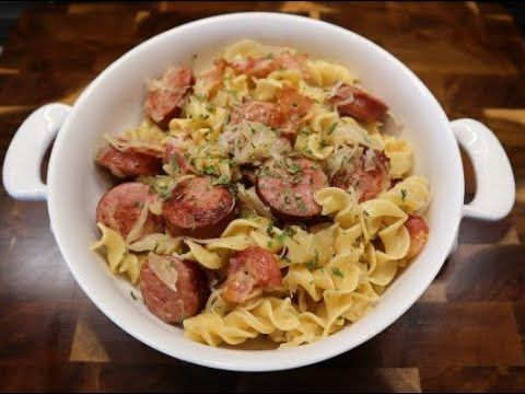 How To Make Haluski (Fried Cabbage, Bacon, Kielbasa, Onions & Egg Noodles)