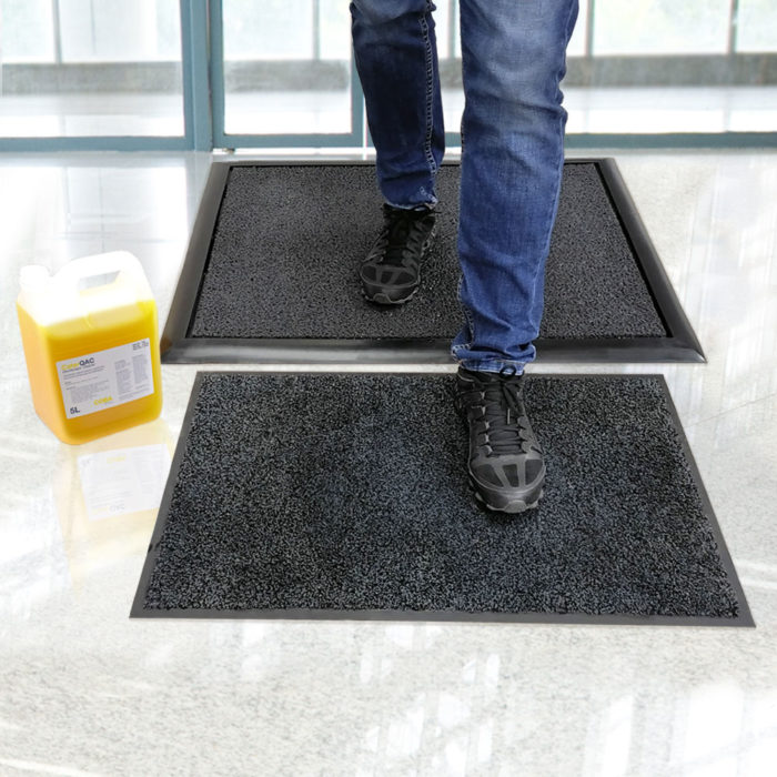Tackle Cross Contamination At The Door With Disinfectant Mats In 2020 Cross Contamination Mats Flooring