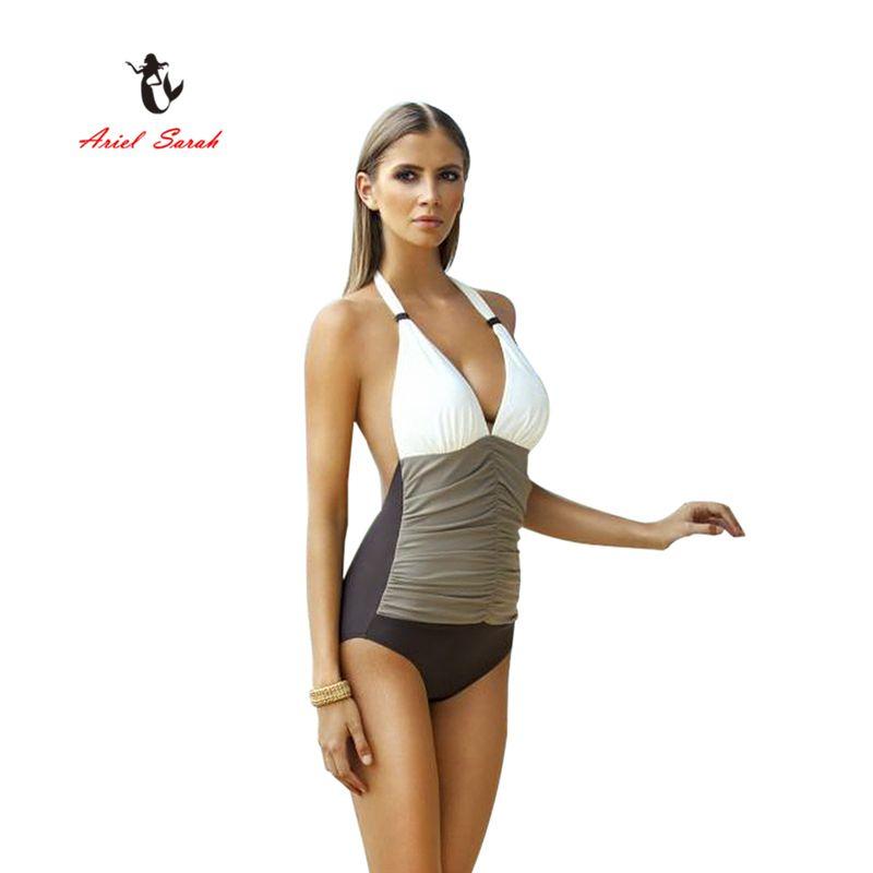 2017 Sarah Ariel Merek One Piece Swimsuit Plus Size ...