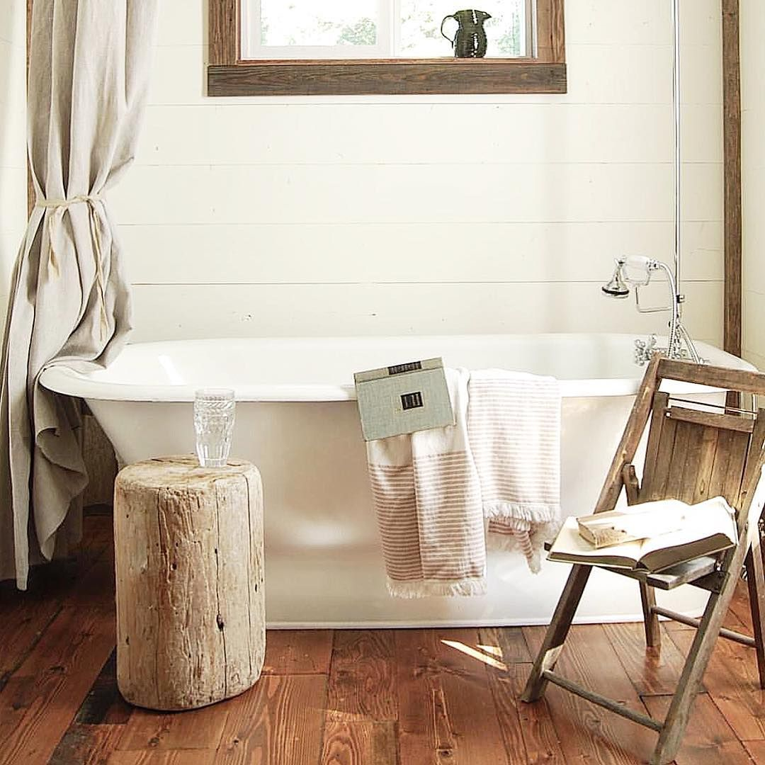 old wooden chair next to the tub perfect studio add on office rh pinterest com