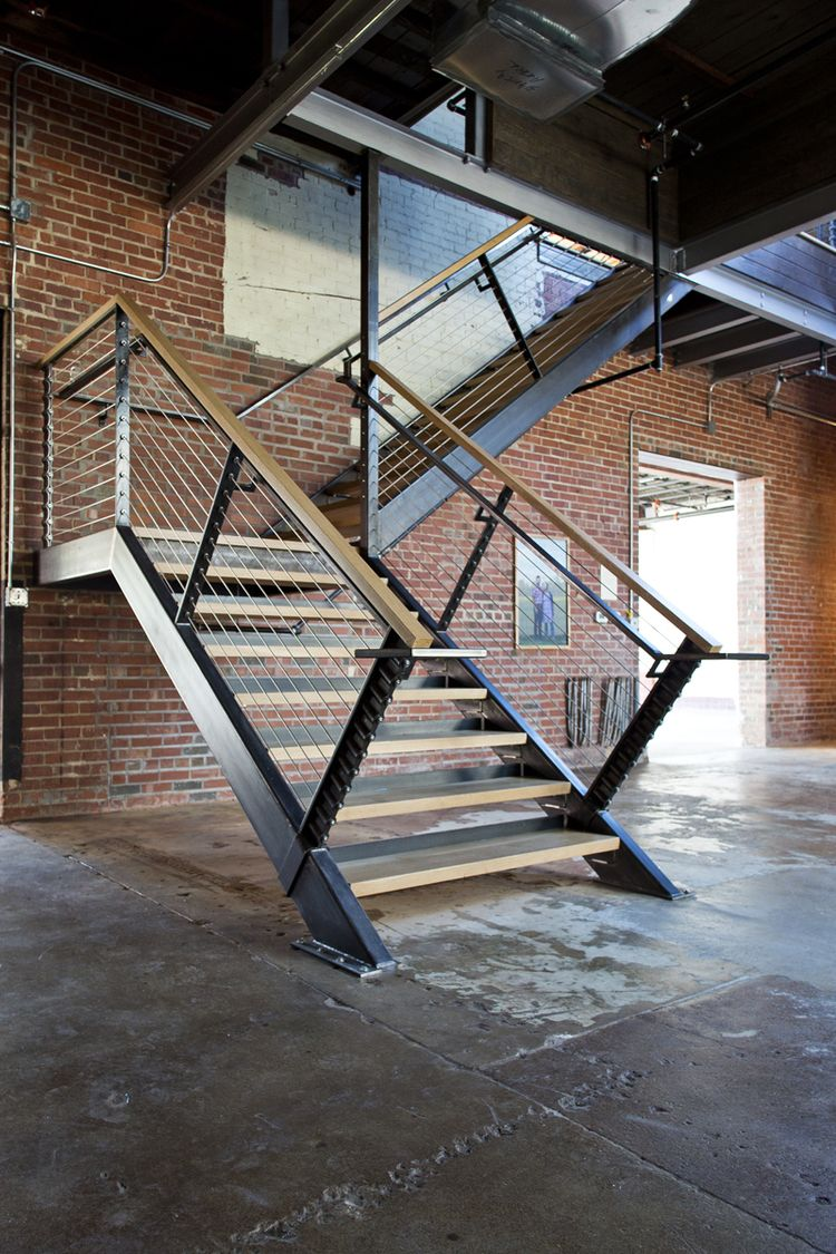 Nehi Botteling Company restoration! Staircase with cable ...
