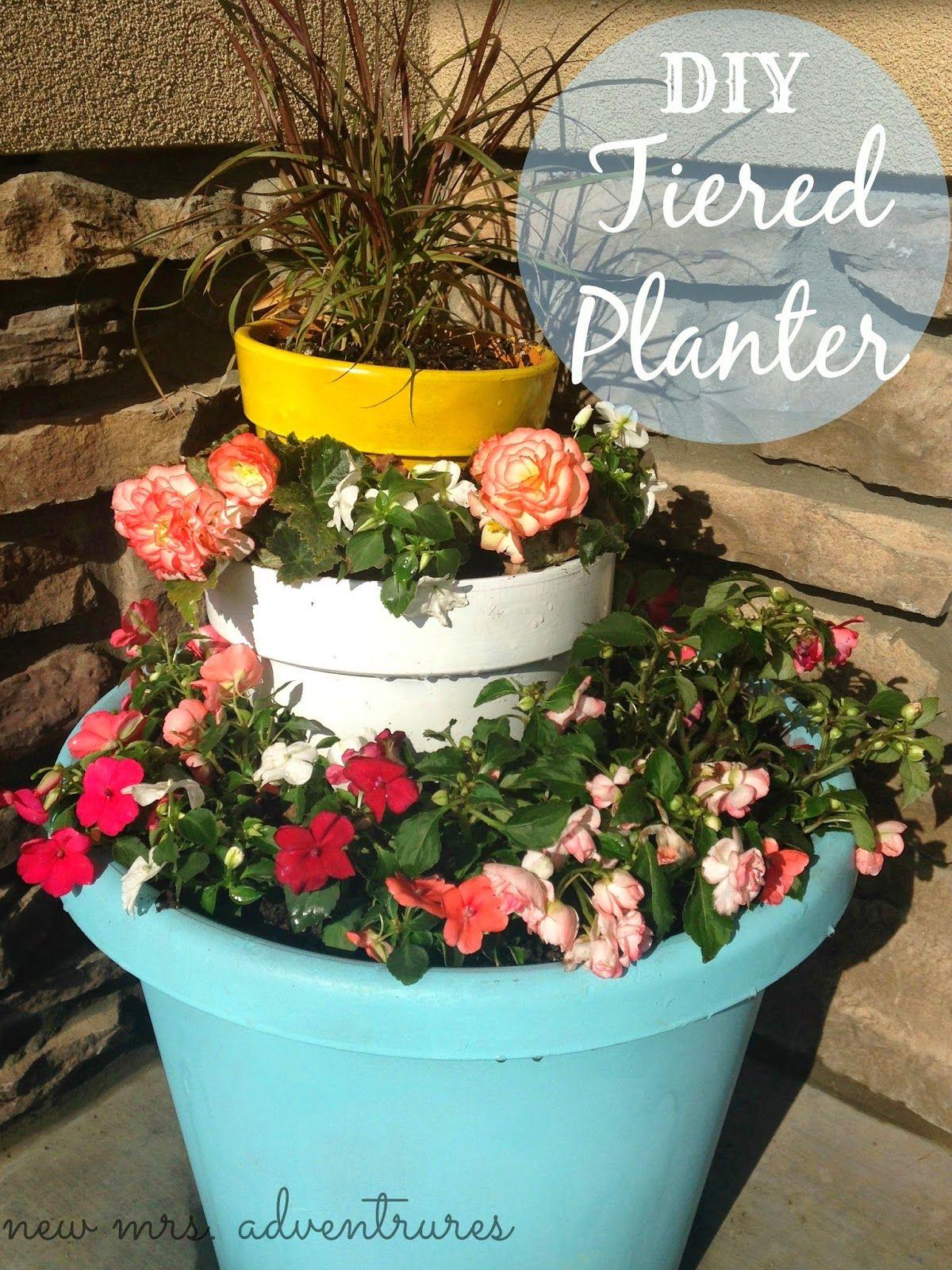 new mrs. adventures DIY Spring Tiered Flower Pots & new mrs. adventures: DIY Spring Tiered Flower Pots   My Pots ...