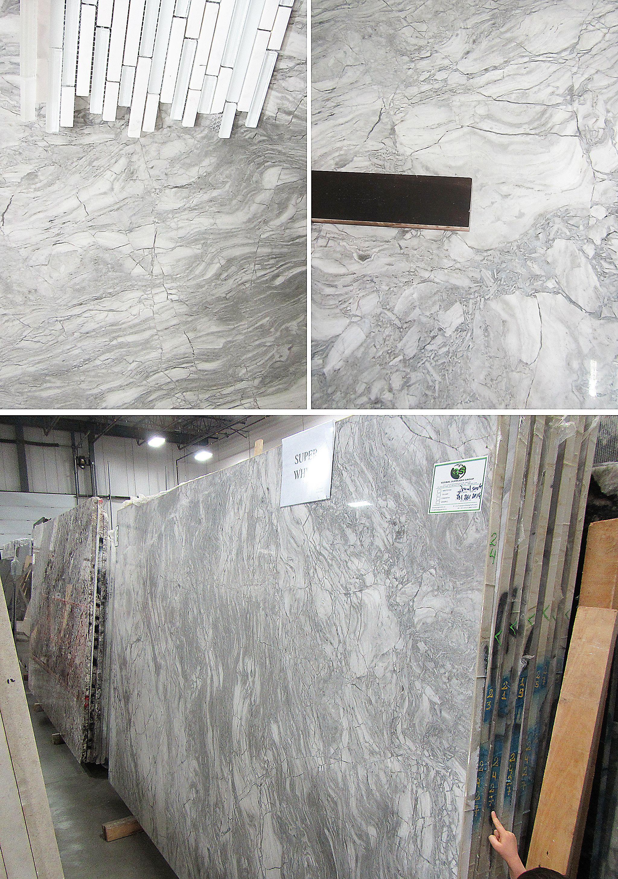 Ordinaire Superwhite Dolomite Countertops, Maple Espresso Cabinets, Marble/glass  Backsplash.