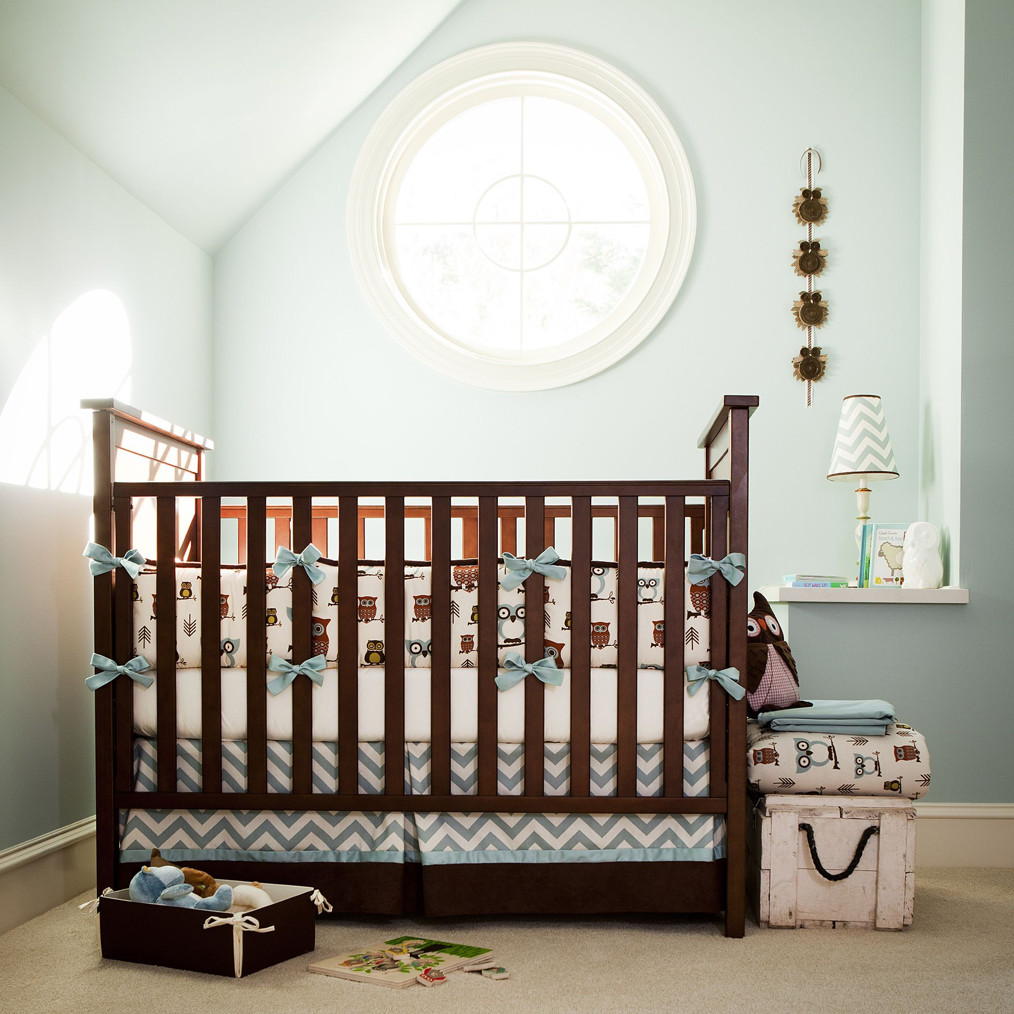 Retro Owls Baby Crib Bedding Carouseldesigns